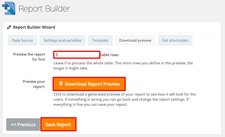 Download Preview of the DOCX Word File Generated by WordPress Report Builder