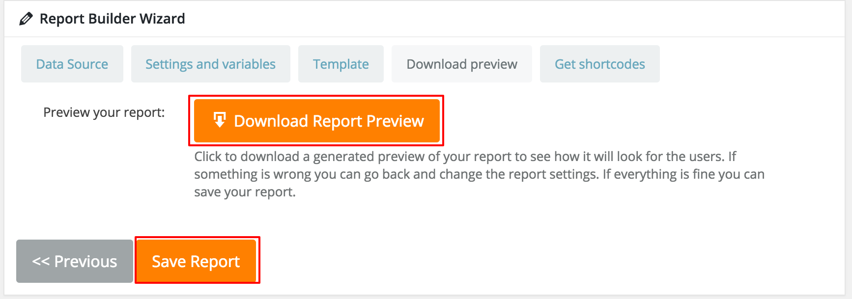 Download a preview for Report Generated in WordPress
