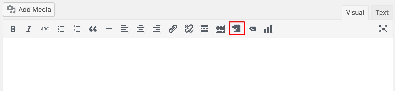 Insert Report Builder in WP Visual Editor