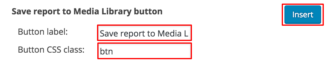 Save to Media Library button in Report Builder